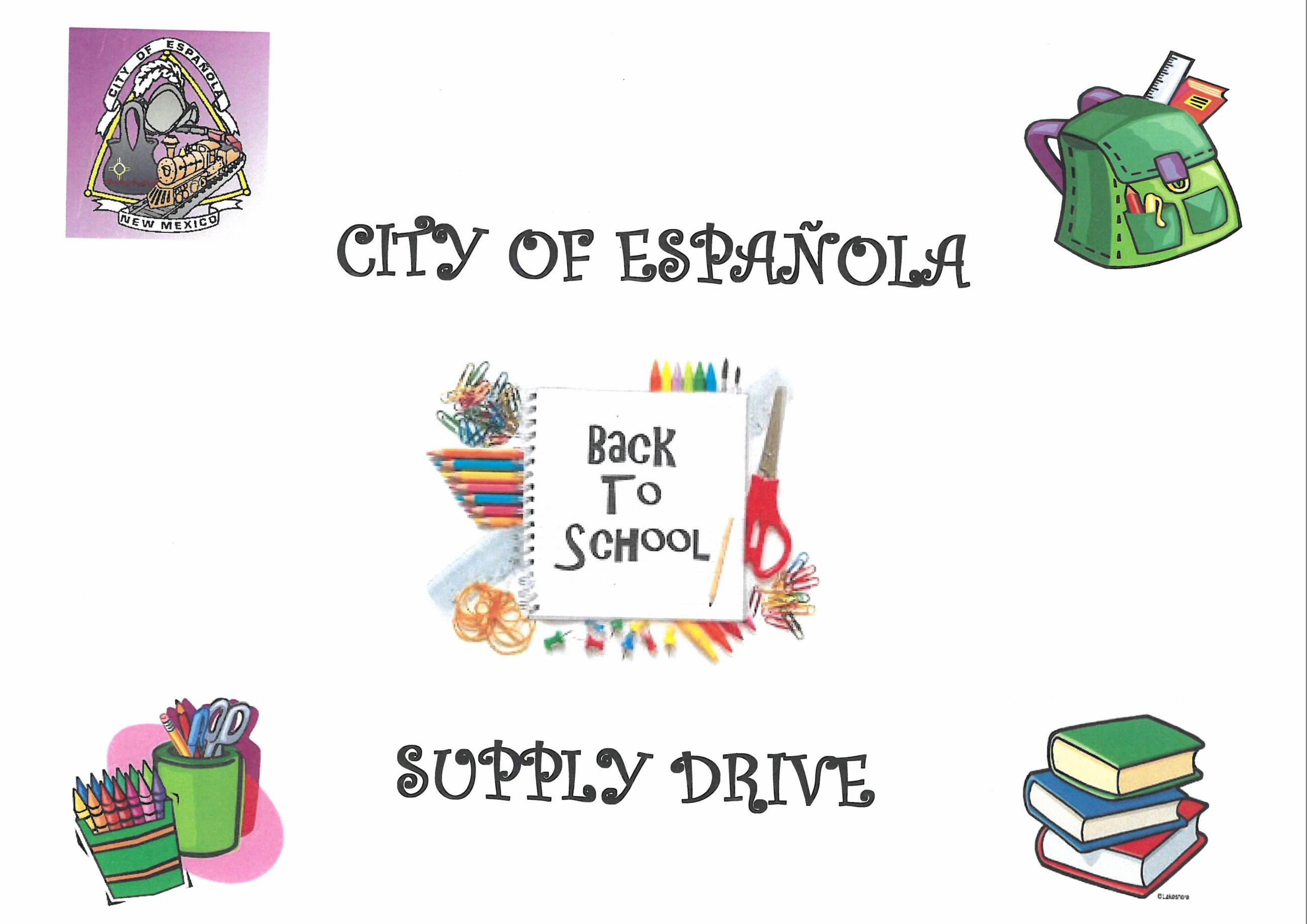 School Supply Drive- Drop off at City Hall