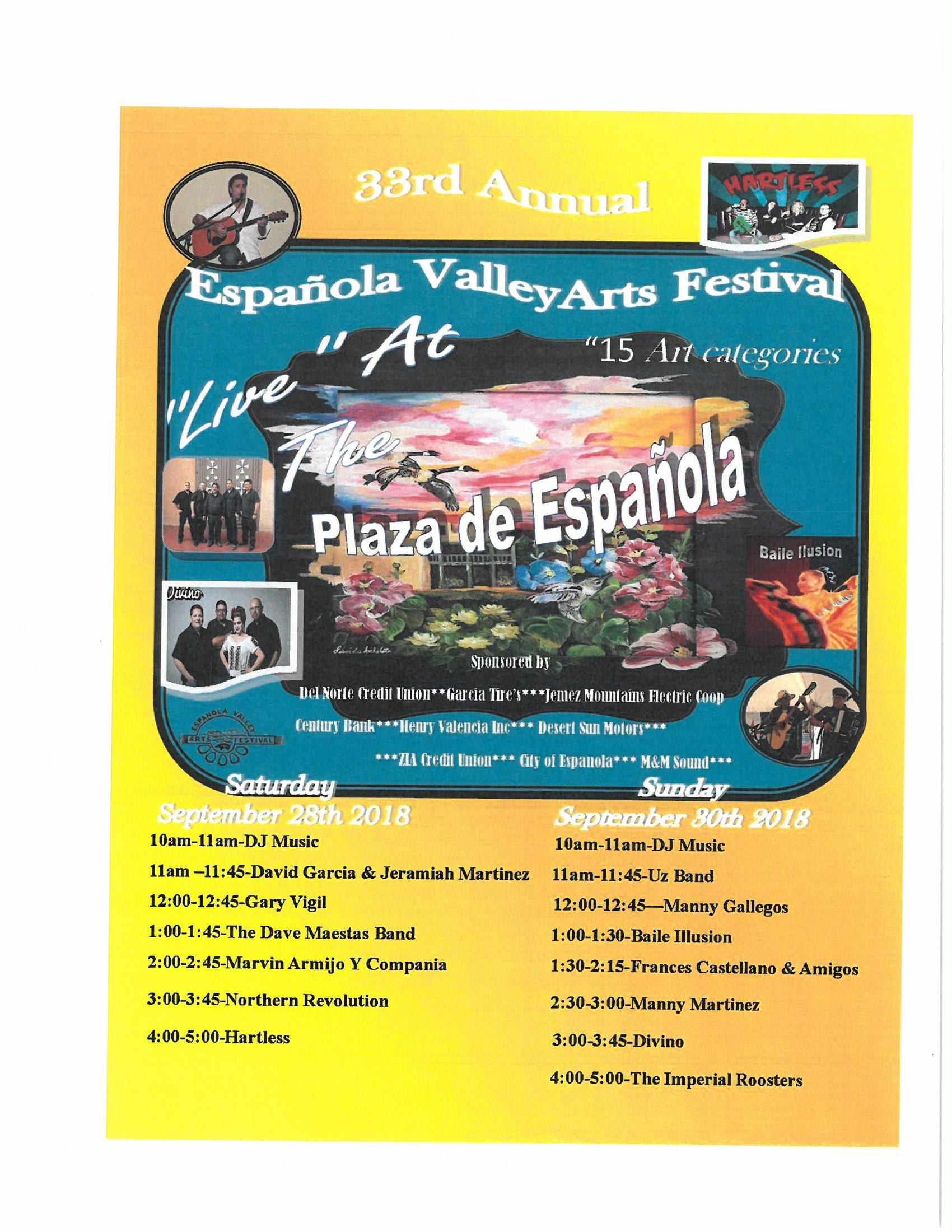 33rd Annual Arts Festival Events