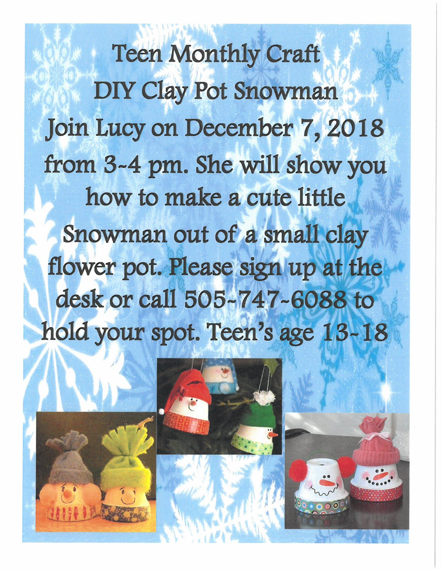 DIY Clay Pot Snowman